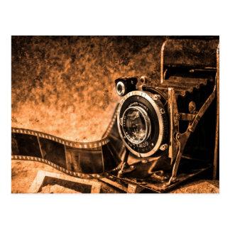 Postal vieja del vintage de la cámara