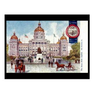 Postal vieja - Des Moines, Iowa, los E.E.U.U.