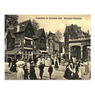 Postal vieja - expo 1910 de Bruselas