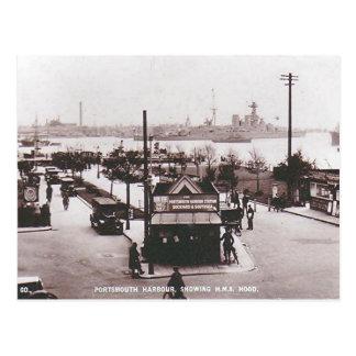 Postal vieja - HMS Hood, puerto de Portsmouth