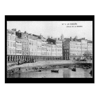 Postal vieja - La Coruña, España