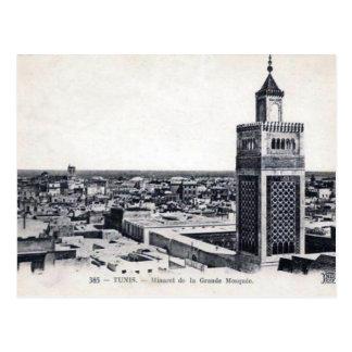 Postal vieja - La grande Mosquée, Túnez