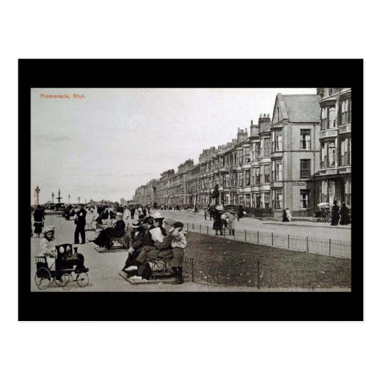 "Postal vieja - la ""promenade"", Rhyl"