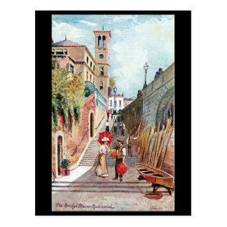 Postal vieja - las escaleras del puente, Richmond,