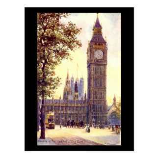 Postal vieja - Londres, Big Ben