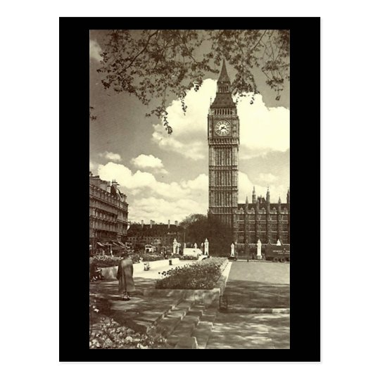 Postal vieja, Londres, Big Ben