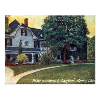 Postal vieja - mentor Ohio, la casa de Garfield