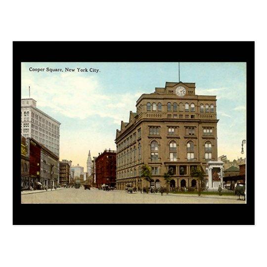 Postal vieja, New York City, cuadrado del tonelero