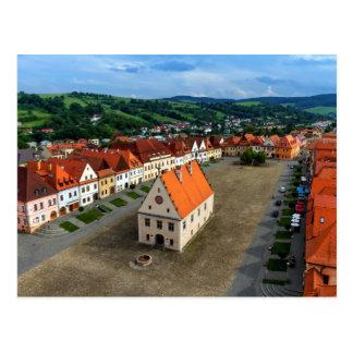 Postal Vieja plaza en Bardejov, Eslovaquia