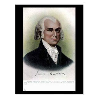 Postal vieja - presidente James Madison de los