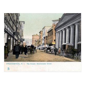 Postal vieja - Providence, Rhode Island, los