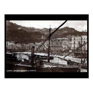 Postal vieja - puerto deportivo grande, Capri,