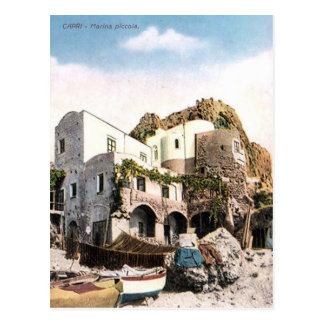 Postal vieja - puerto deportivo Piccola, Capri,