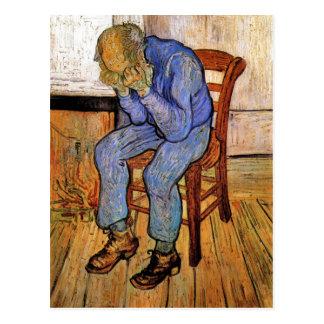Postal Viejo hombre en dolor de Vincent van Gogh 1890