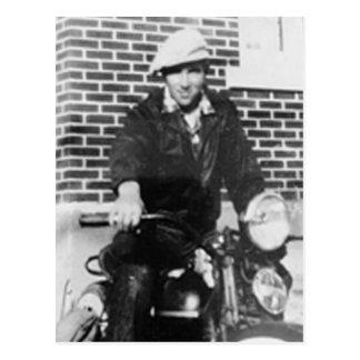 Postal Viejo motorista