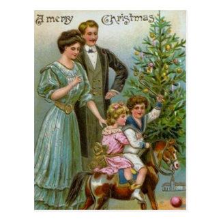 Postal Viejo navidad de la moda