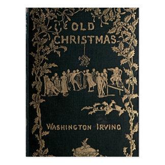 Postal Viejo navidad - Washington Irving