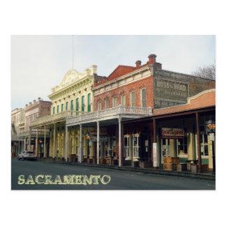 Postal Viejo viaje del distrito de Sacrmento