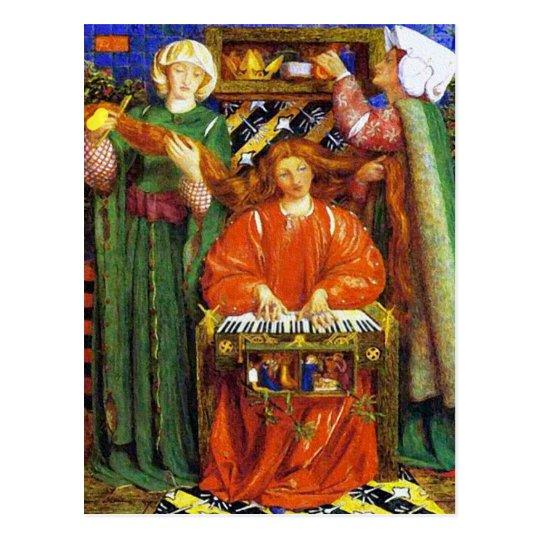 Postal:  Villancico del navidad - por Rossetti Postal