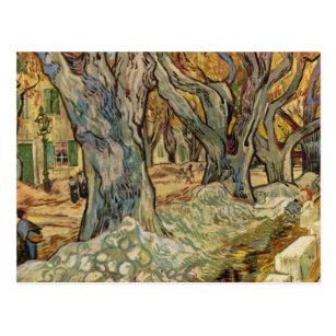 Postal Vincent van Gogh - trabajadores del camino