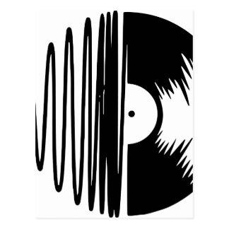 Postal vinil de la música