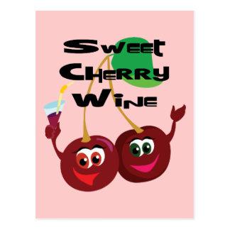 Postal Vino de la cereza dulce