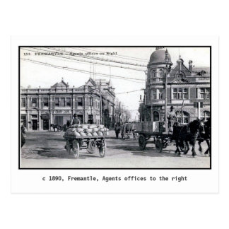 Postal Vintage 1890 Fremantle, Perth, Australia