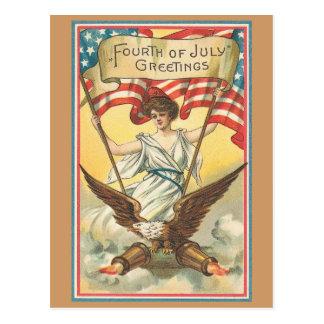 Postal vintage 4 de julio