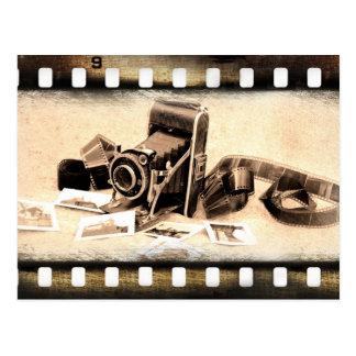 Postal Vintage, acordeón-estilo, cámara de plegamiento