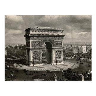 Postal Vintage Arco del Triunfo 1943 de París