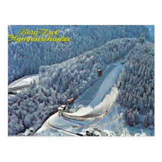 Postal Vintage Austria, iceberg Isel, salto de esquí