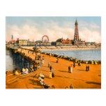 Postal Vintage Blackpool Lancashire Inglaterra