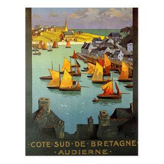 Postal Vintage Bretaña, Audierne, Francia -