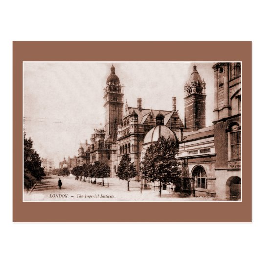 Postal Vintage Ca Londres 1895 el instituto imperial