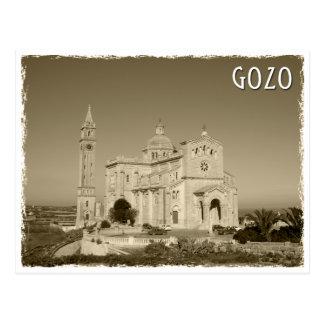 Postal Vintage church at Gozo, Malta