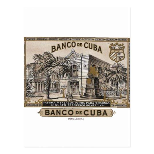 Postal Vintage Cubano Banco de Cuba de Cuba