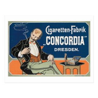 "Postal Vintage de c.1898 de Cigaretten Fabrik ""Concordia"""