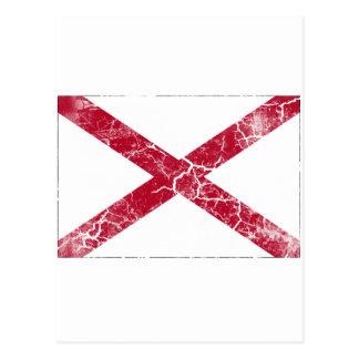 Postal Vintage de la bandera del estado de Alabama