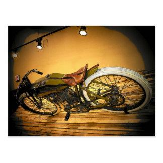 Postal Vintage de la bici de Harley