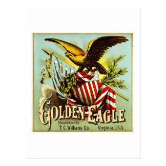 Postal Vintage de la etiqueta del tabaco de mascar de
