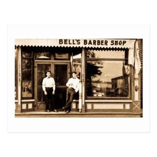 Postal Vintage de la peluquería de caballeros de Bell