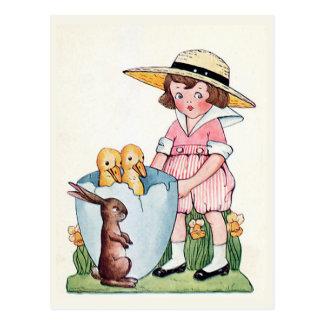 "Postal Vintage de ""Pascua feliz"""