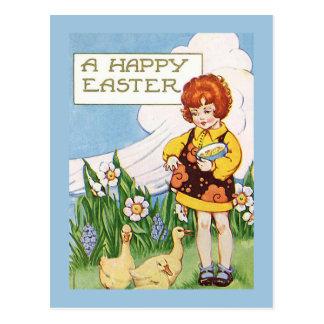 """Postal Vintage """"de una Pascua feliz"""""""
