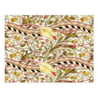 Postal Vintage del narciso de Dearle floral