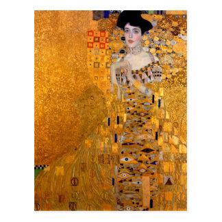 "Postal Vintage del retrato de Gustavo Klimt ""Adela"""