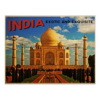 Postal Vintage del Taj Mahal la India