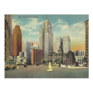 Postal Vintage Detroit Michigan