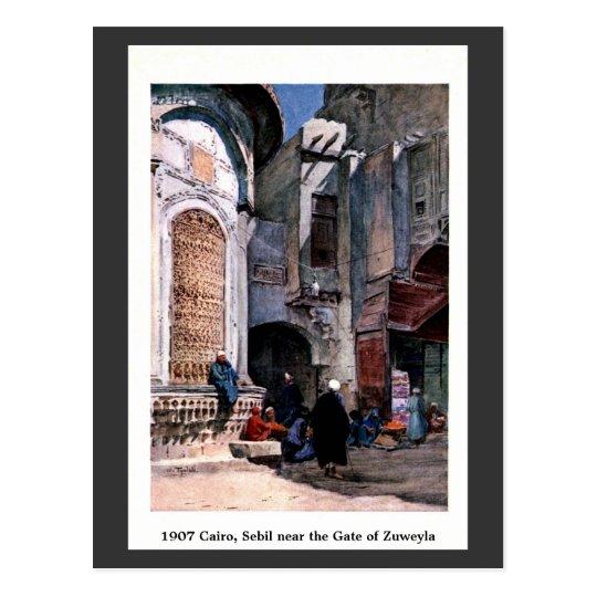 Postal Vintage El Cairo 1900 Egipto Sebil cerca de