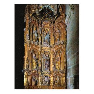 Postal Vintage España, Burgos, catedral, altar de Santa