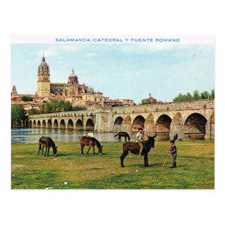 Postal Vintage España, Salamanca, catedral
